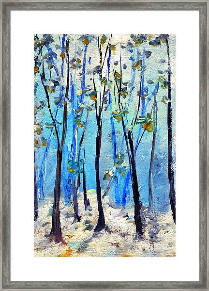 Blue Thoughts In Winter Framed Print