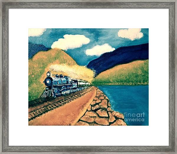 Blue Train Framed Print