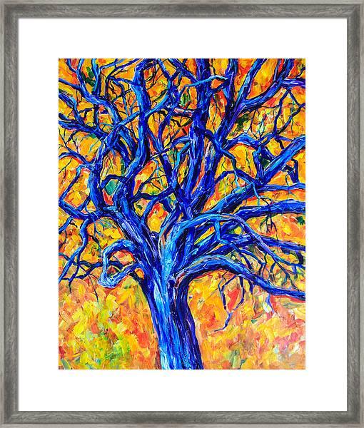 Blue Tree Framed Print