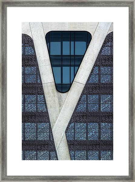 Blue Triangle Framed Print