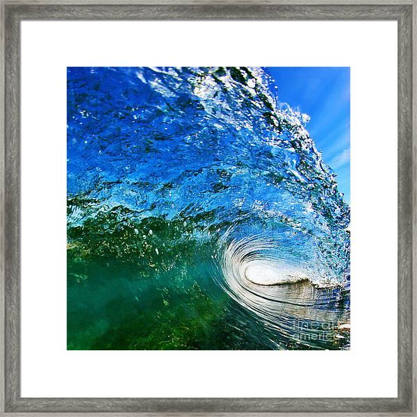 Blue Tube Framed Print