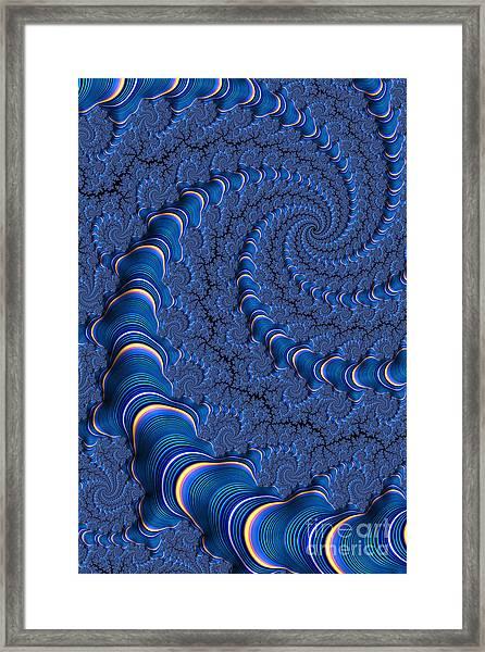 Blue Tubes Framed Print