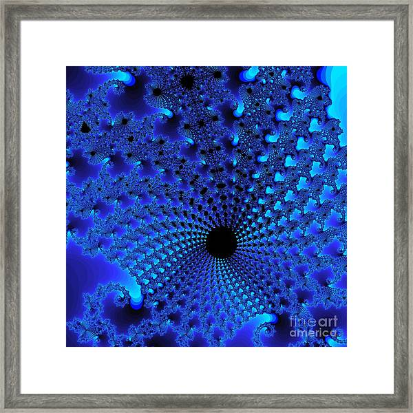 Blue Tunnel Framed Print by Gaby Tench