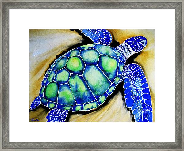 Blue Turtle Framed Print