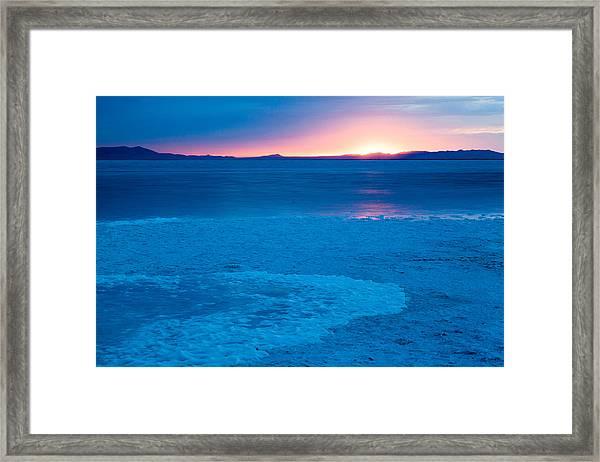 Blue Waves Framed Print by Darryl Wilkinson