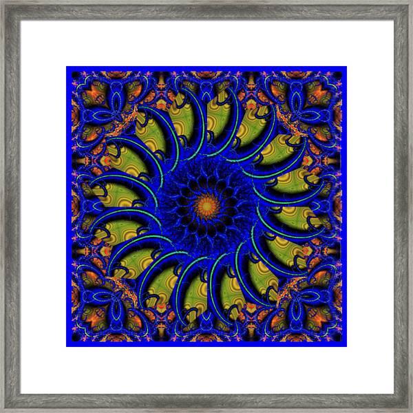Blue Whirligig Framed Print