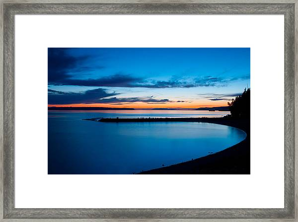 Blue Willingdon Framed Print