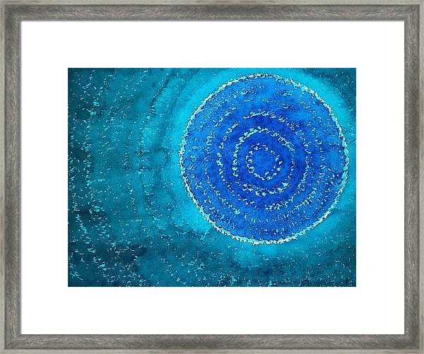 Blue World Original Painting Framed Print