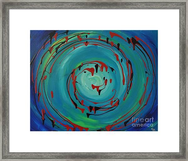 Blueberry Swirls Framed Print
