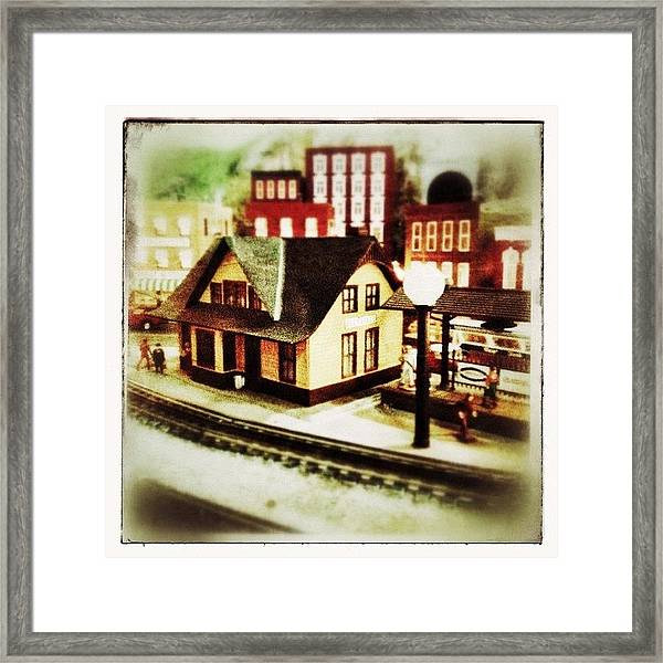 Bluefield Train Station In Miniature At Framed Print