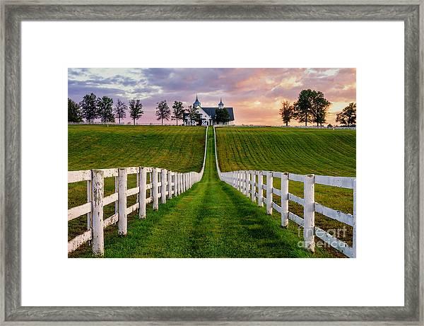 Bluegrass Farm Framed Print
