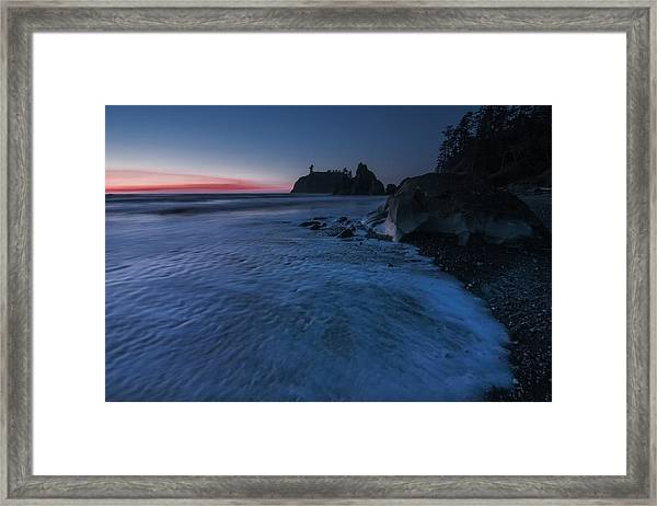 Bluered Framed Print