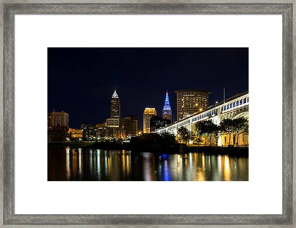 Blues In Cleveland Ohio Framed Print