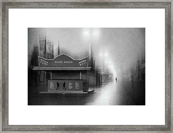 Blues Killer Framed Print