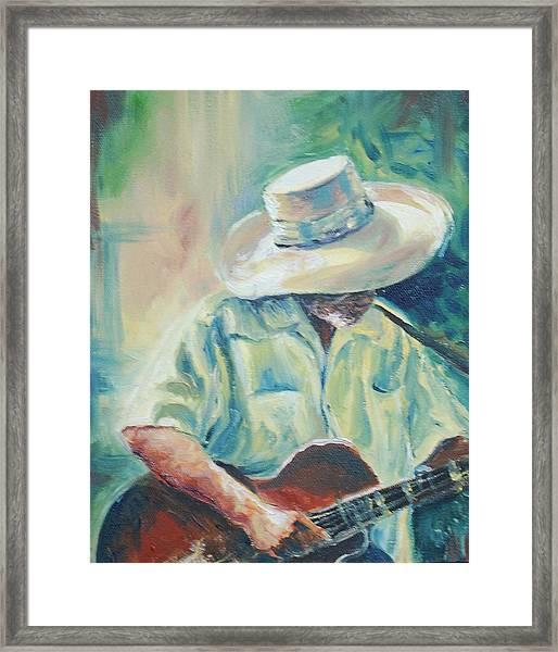 Blues Man Framed Print