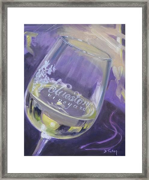 Bluestone Vineyard Wineglass Framed Print