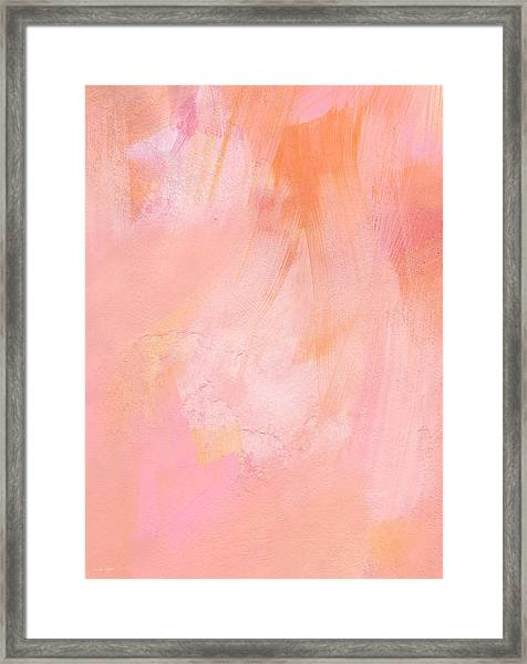 Blush- Abstract Painting In Pinks Framed Print