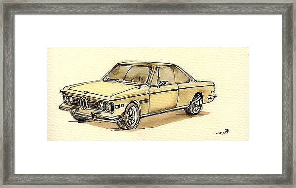 Bmw 3 Cs Coupe Framed Print