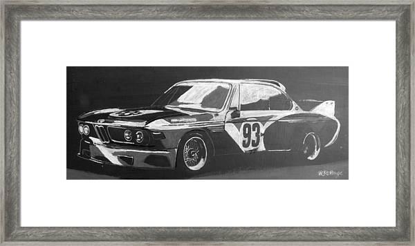 Bmw 3.0 Csl Alexander Calder Art Car Framed Print
