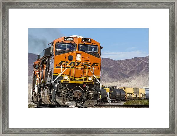 Bnsf In Ludlow, California Framed Print