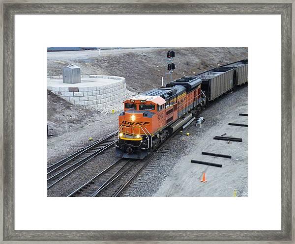Bnsf Kc Rail Yards Framed Print