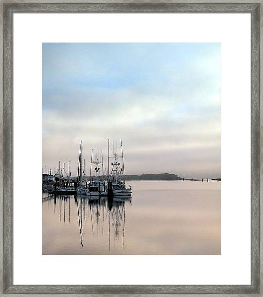 Boardwalk Boats Framed Print