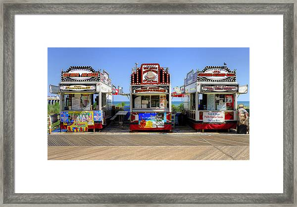 Boardwalk Dining Framed Print