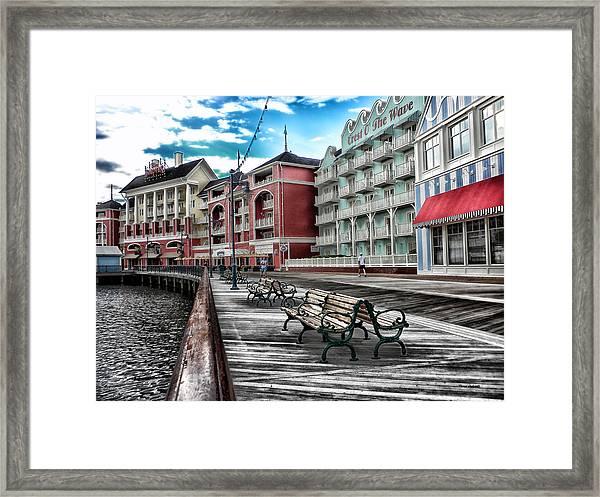 Boardwalk Early Morning Framed Print
