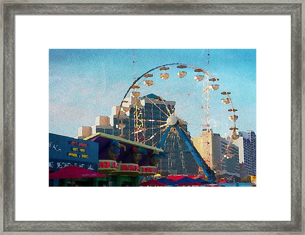 Boardwalk Ferris  Framed Print