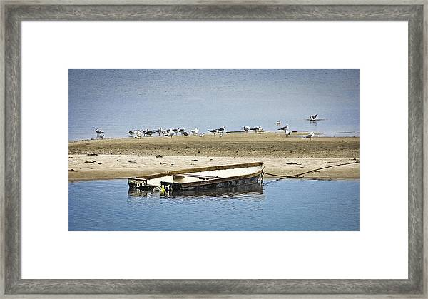 Boat At The Bar Framed Print