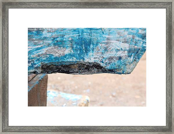 Framed Print featuring the photograph Boat Bites by Debbie Cundy