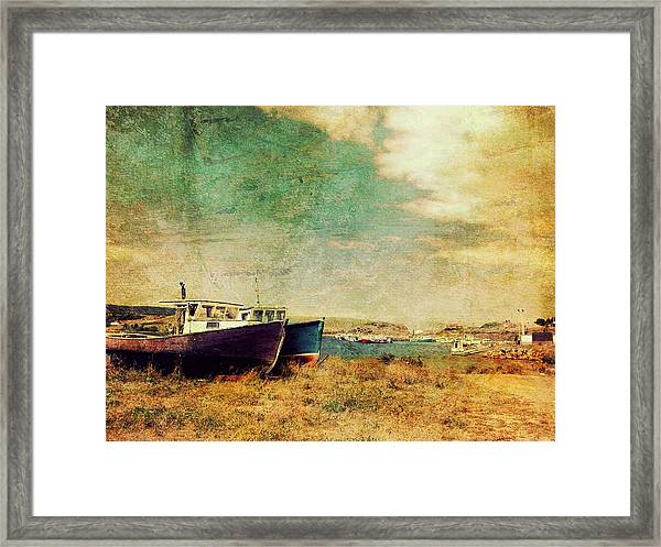 Boat Dreams On A Hill Framed Print