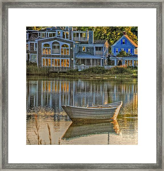 Boat In Late Afternoon Framed Print