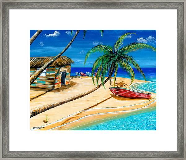 Boat Rent Framed Print