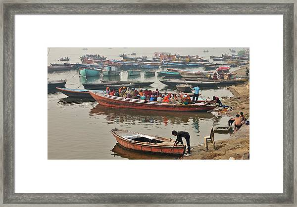 The Journey - Varanasi India Framed Print