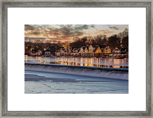 Framed Print featuring the photograph Boathouse Row Philadelphia Pa by Susan Candelario