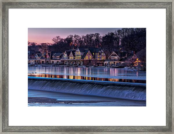 Framed Print featuring the photograph Boathouse Row by Susan Candelario