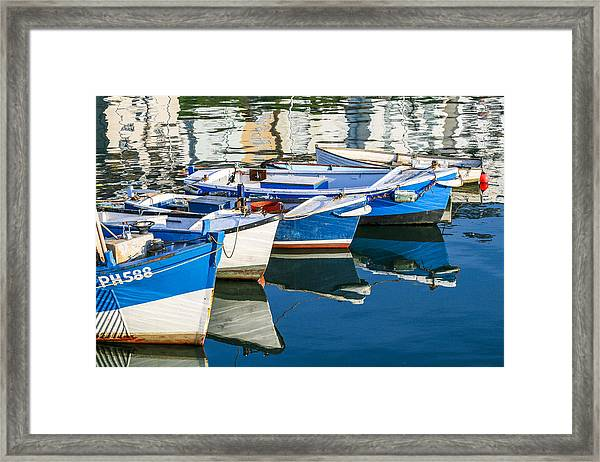 Boats At Anchor Framed Print