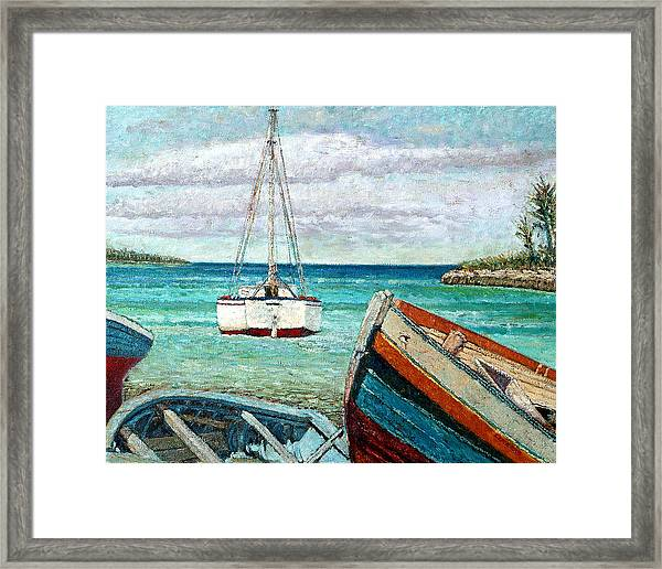 Boats By The Bay Framed Print