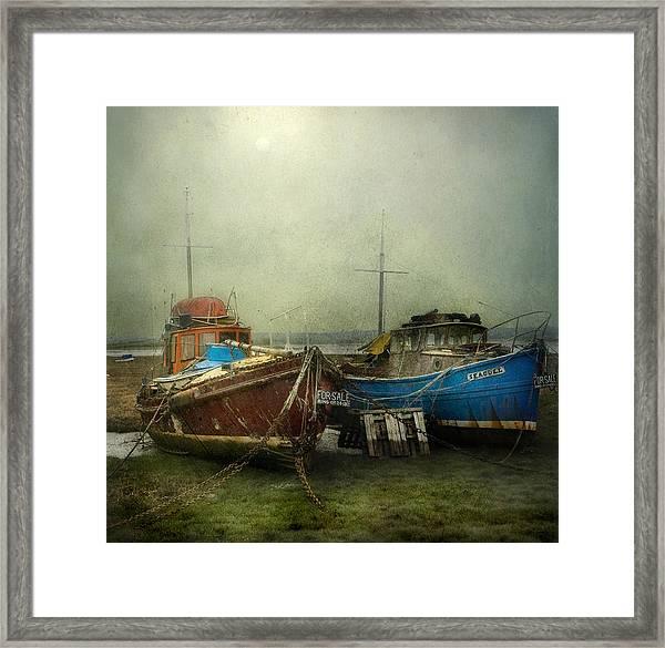 Boats For Sale Framed Print
