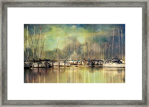 Boats In Harbour Framed Print