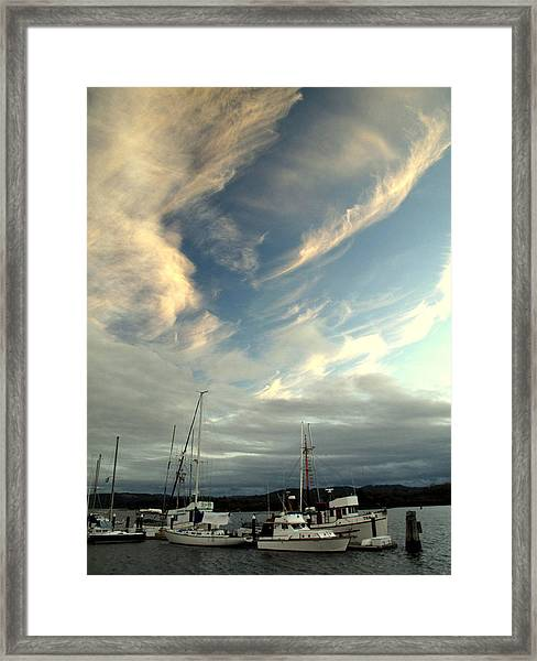 Boats In The Breeze Framed Print