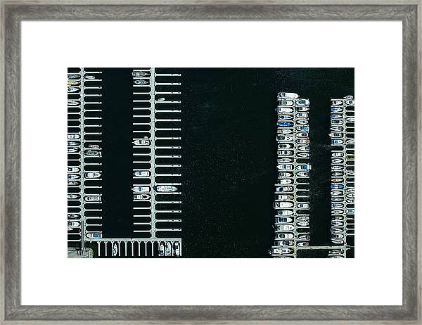 Boats In The Harbour Framed Print by Michael H