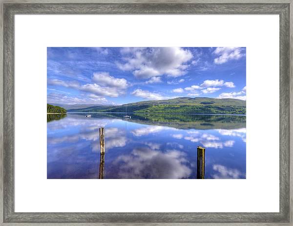 Boats On Loch Tay Framed Print