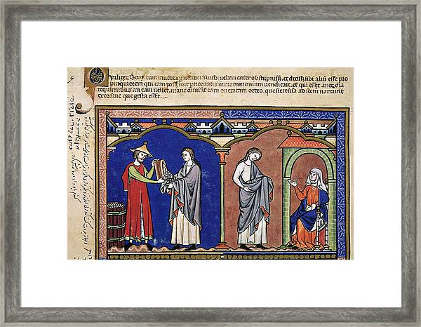 Boaz Sends Ruth Away With Six Measures Framed Print