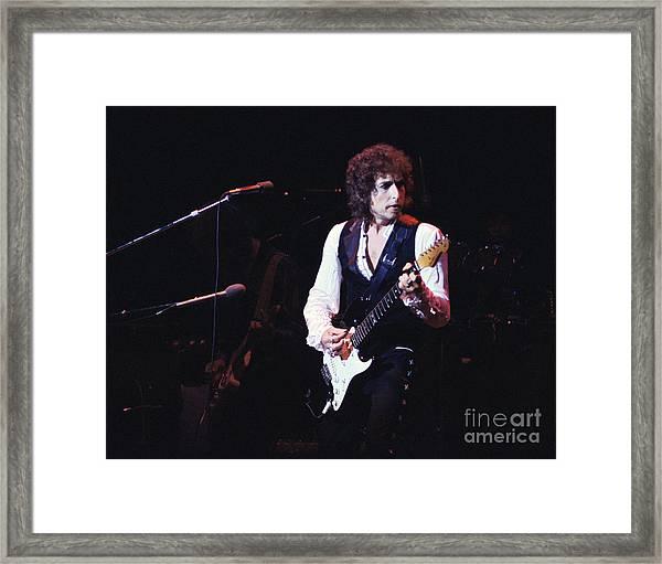 Bob Dylan 1978 Framed Print by Chris Walter