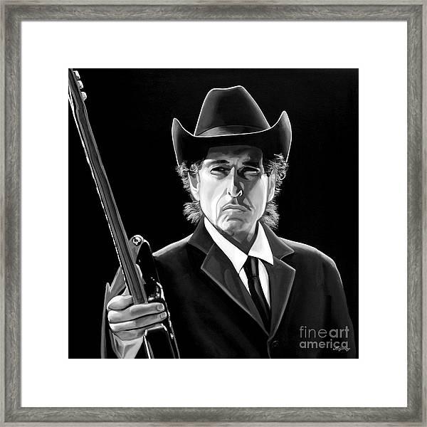 Bob Dylan 2 Framed Print by Meijering Manupix
