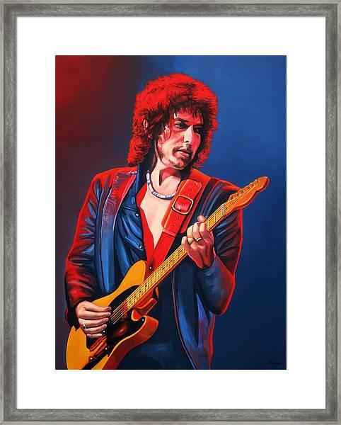 Bob Dylan Painting Framed Print