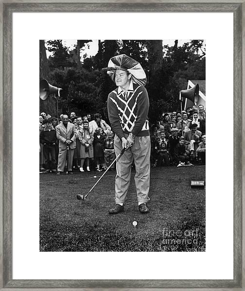 Bob Hope At Bing Crosby National Pro-am Golf Championship  Pebble Beach Circa 1955 Framed Print