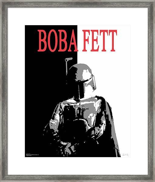 Boba Fett- Gangster Framed Print